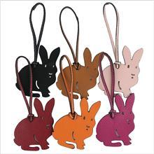 Luxe célèbre marque Designer cheval lapin sabot fer à cheval en cuir porte-clés pendentif porte-clés filles femmes sac breloques