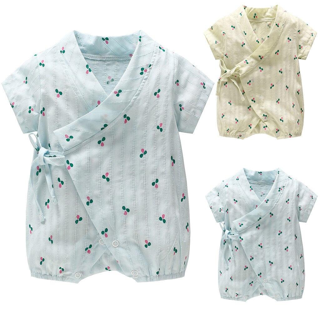 Nuevo recién nacido bebé niño niña corta Infantil Niño de traje kimono traje de ropa одежда для пупсов