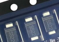 O envio gratuito de 100 pçs/lote 1A SS22 SMD Schottky Barrier Rectifier Diode 100V SMA