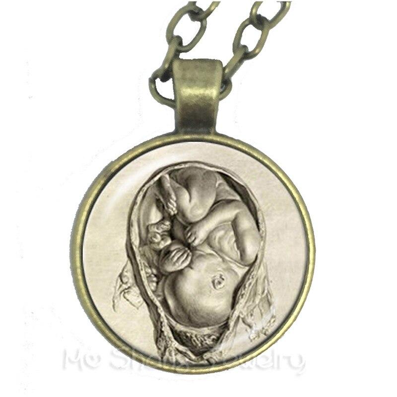 人間の解剖脳ネックレスガラスカボション奇妙なクール科学ドクターセーターチェーンクリエイティブ友人のため
