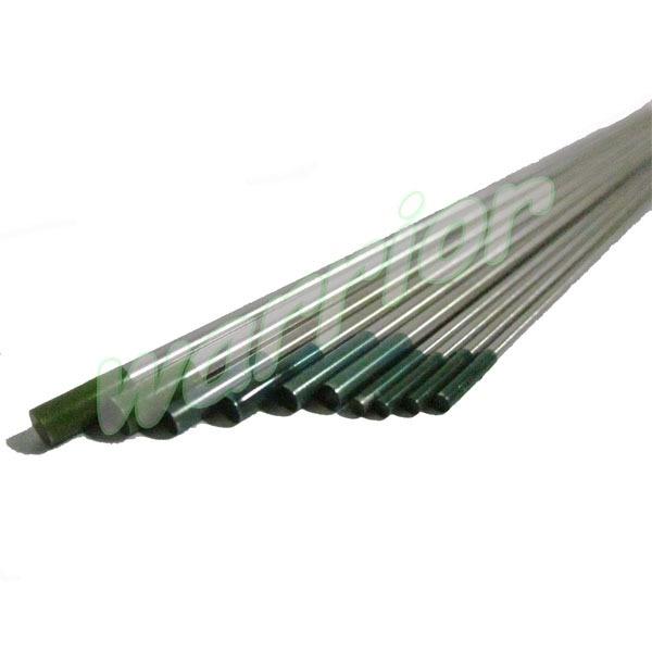 "10pcs Pure Tungsten Electrode Kit Green Tip Size 1.6mm 2.4mm 3.2mm/175mm 1/16"" 3/32"" 1/8""/ 7"" for Welder Aluminum AC TIG Welding"