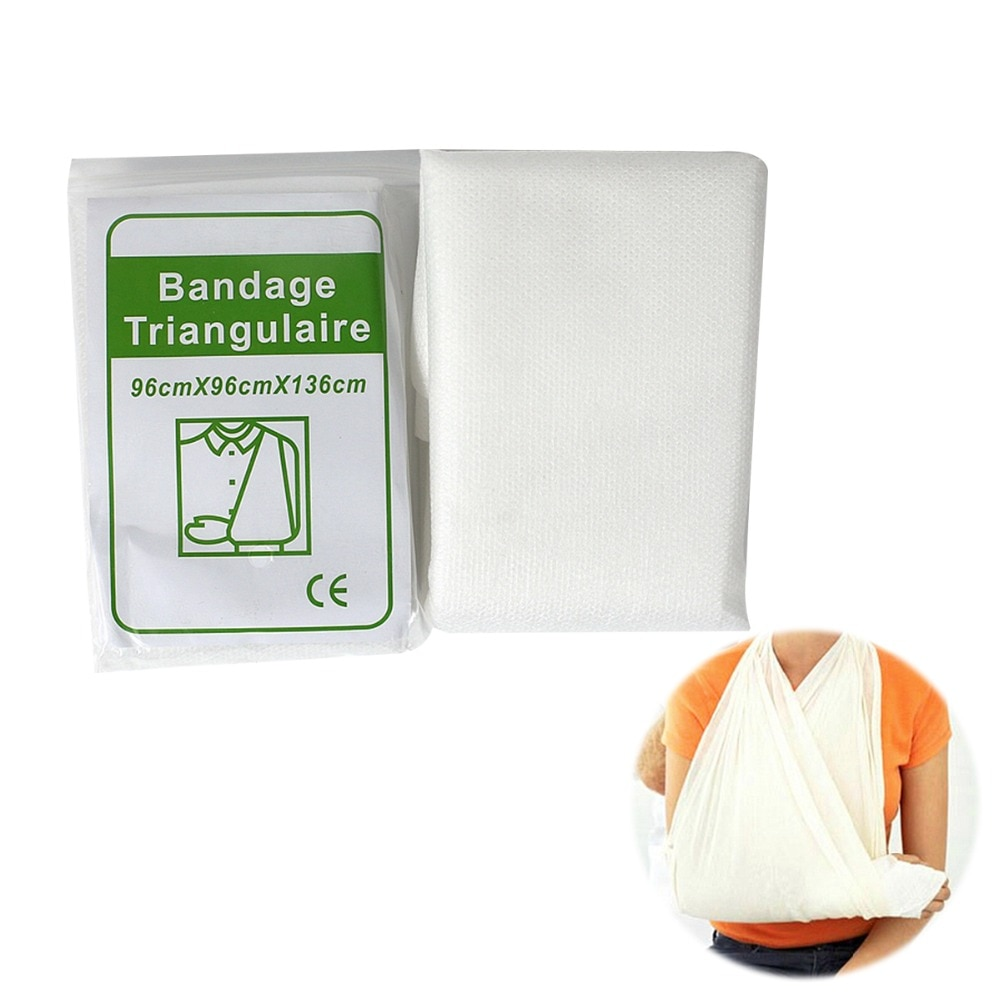 10 unids/lote vendaje de quemadura médica Primer Kit envoltura cinta fijación de fractura Triangular cuidado de heridas de emergencia