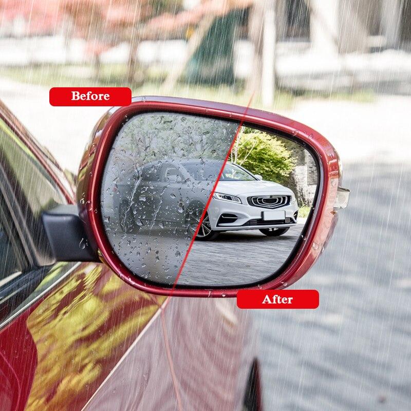 2pcs Car Waterproof Anti Fog Film Rearview Mirror Protective Film Sticker Window Clear Sticker For Geely Emgrand GT GC9 Atlas