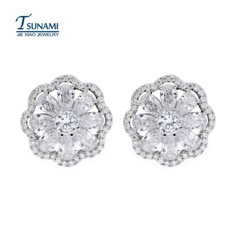 Popular AAA zircon droplets zircon earrings Elegant woman zircon earrings ER045