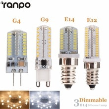 Dimmbar E12 E14 Led-lampe Mais Licht 5 Watt 7 Watt 10 Watt G9 G4 silikon Lampe 3014 SMD AC 110 V 220 V Kronleuchter Ersetzen Die Halogenlampen