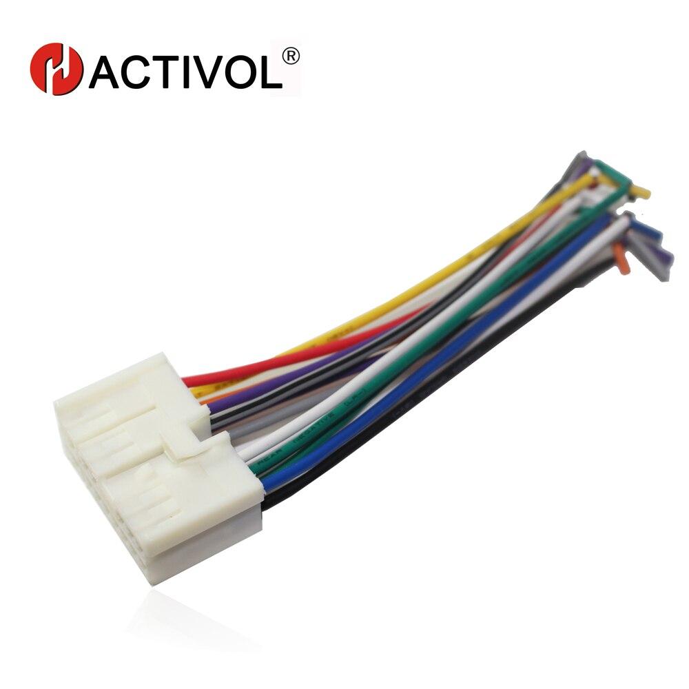 Radio de coche estéreo macho ISO adaptador de corriente arnés de cableado especial para Hyundai Sonata Elantra Tucson ISO arnés cable de alimentación