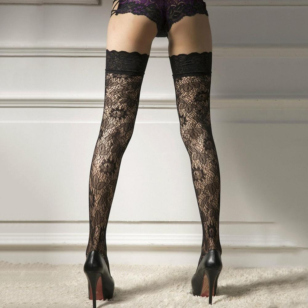 AliExpress - Wholesale 1 Pair Women Floral Lace Over Knee Thigh High Stockings Sexy Honeymoon Stretchy Durable Super Elastic Stockings