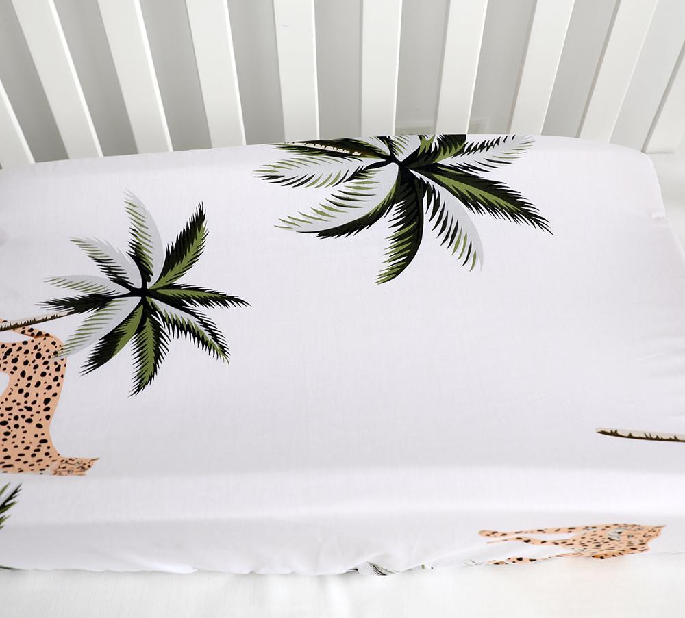 Alfombrilla para cambiador de bebé cubre bebés suaves transpirables sábanas de mesa ajustadas elásticas para bebés recién nacidos (Cheetah)