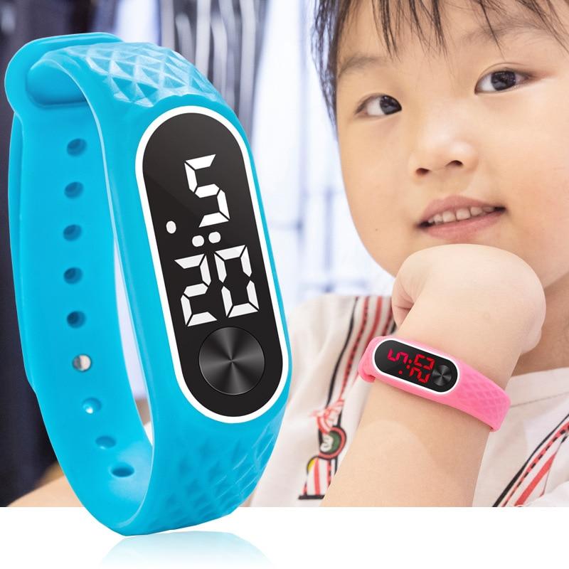 Детские часы, светодиодные цифровые спортивные часы для мальчиков, девочек, мужчин, женщин, браслет, электронные силиконовые часы, детские часы, часы для новорожденных