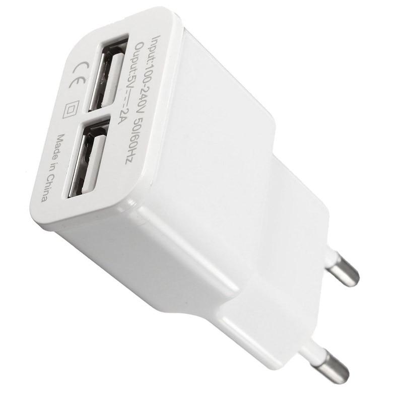Cargador de pared USB Dual de 2 puertos 5V 2A adaptador de carga para iPad tablets/MP3/MP4/MP5/PSP/cámaras Digitales/bancos de energía