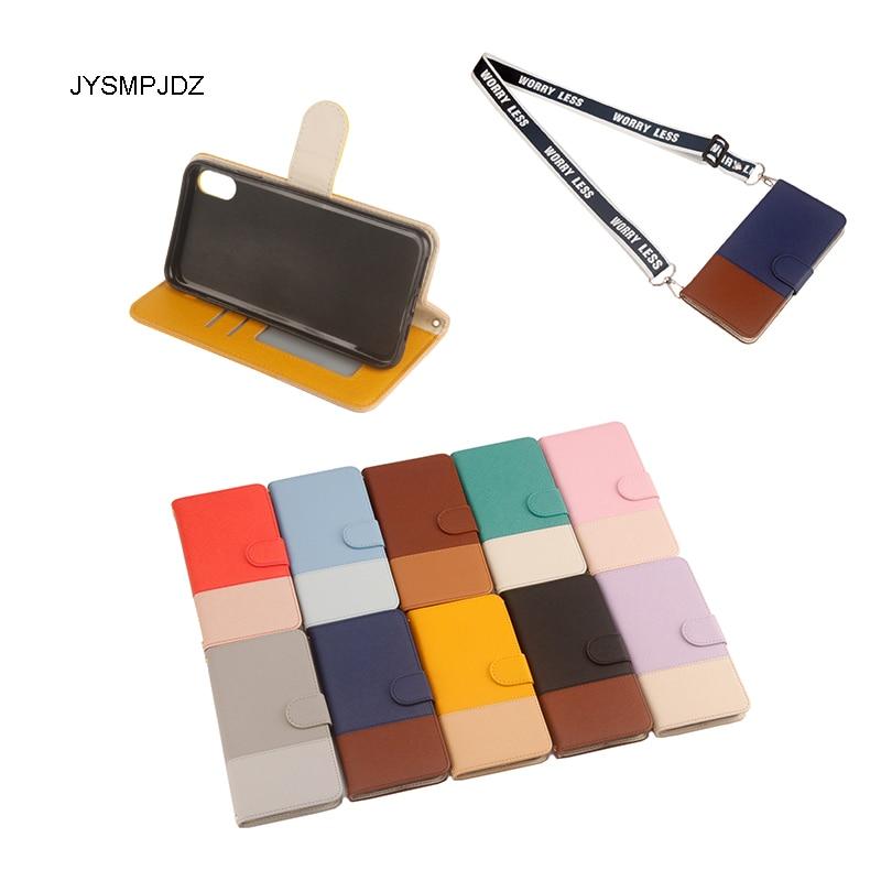 Para Apple iPhone XR funda de teléfono Flip A2108 A2107 A2106 A1984 A2105 para iPhone XR nueva funda cartera bolsa de contraste