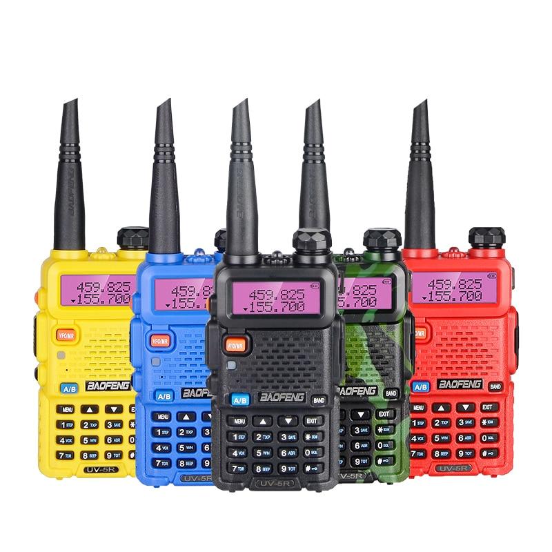 100% Original baofeng uv5r Walkie Talkie VHF UHF Two Way Ham Radio Transceiver uv-5r Handheld ham radio