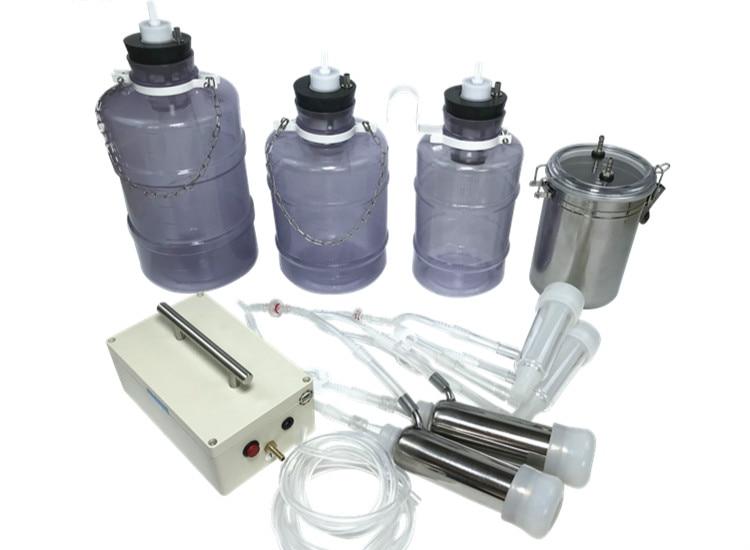 1PCS Electric Milking Machine Cow Goat Sheep Milker Dual Vacuum Pump Bucket Food Safety Level Plastic Milking Machines