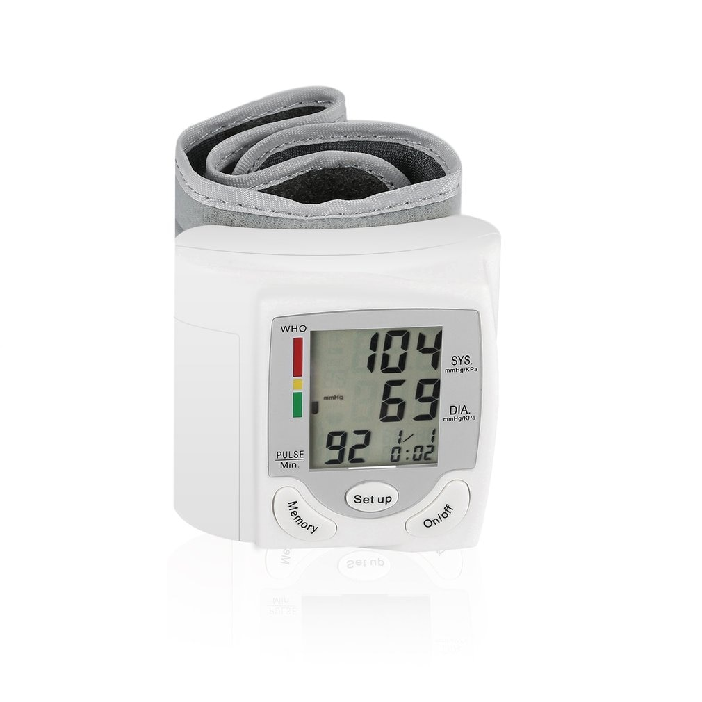 1 pcs Household Automatic Wrist Blood Pressure Monitor Health Care Digital LCD Heart Beat Rate Pulse Meter Measure hot