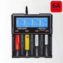 2018 SQ4 Più Display LCD 18650 USB Rapid Caricabatterie Intelligente Per li-ion Ni-Mh Ni-CD AA AAA AAAA 26650 10440 16340 18350 batteria