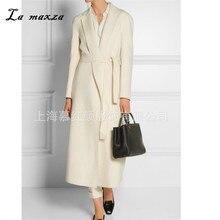Women Winter Coat Wool 2020 Vintage Elegant Clothes Camel OL Fashion Outwear Long Coat Women Plus