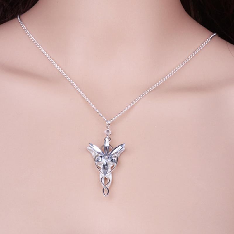 Hot Film Lord Of The Necklace Fashion Twilight Star Pendant Hobbit Aragorn Arwen Evenstar Pendant  Movie Jewelry 1Pcs/set
