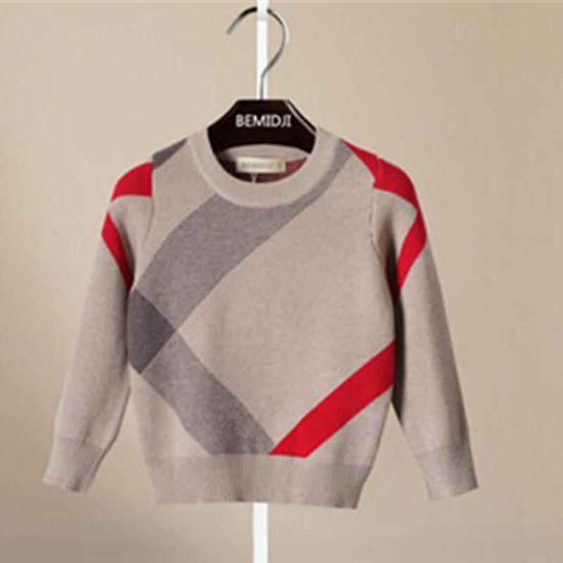 Danmoke criança menino camisola primavera outono bebê meninos pulôver casaco de lã para crianças 2-6years