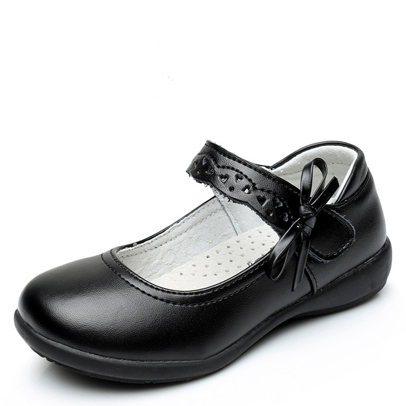 Children Shoes For Girl Leather Shoes Kids Fashion Black Single Shoes Princess Leather Student Schoo