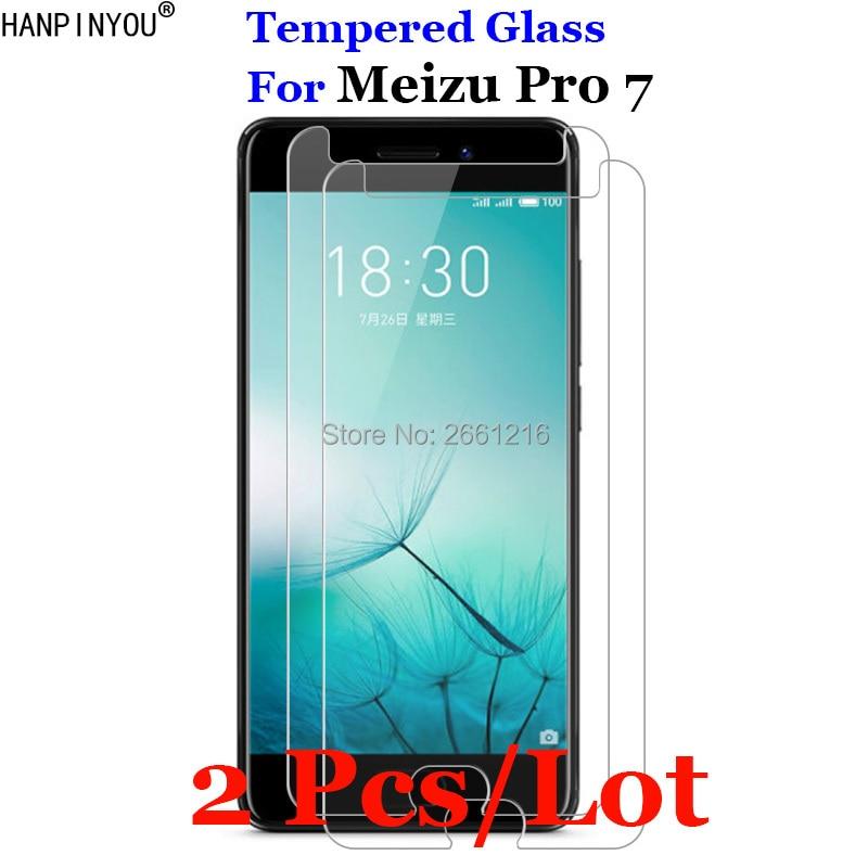 2 Pcs/Lot For Meizu Pro 7 Tempered Glass 9H 2.5D Premium Screen Protector Film For Meizu Pro 7 pro7 5.2