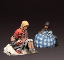 [Tuskmodel] 1 35 skala harz modell zahlen kits flüchtlinge S3544