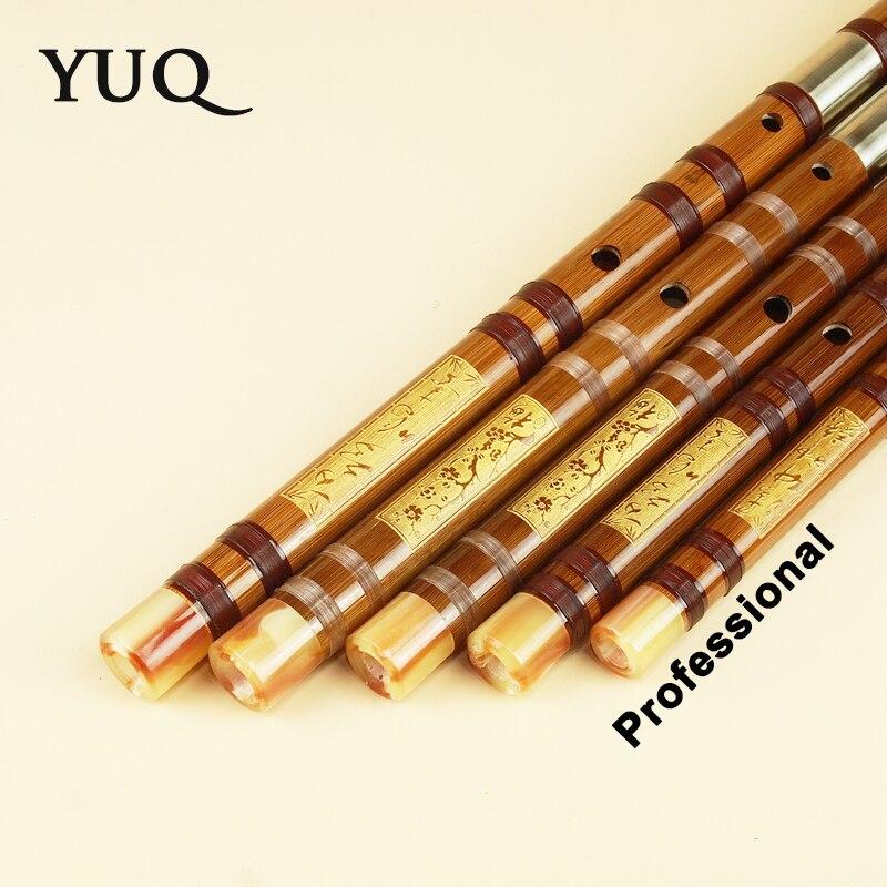 YUQUE Traditionellen Professionelle Bambusflöte Bläser dizi musikinstrumente C D E F G Schlüssel Chinesischen dizi Quer Flauta Xiao
