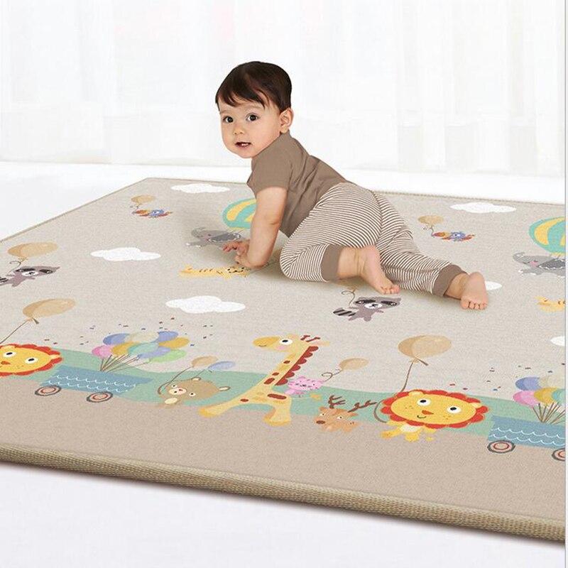 Alfombras para niños, alfombrillas para juegos de bebés, 1cm de grosor, alfombra para niños con dibujos animados de doble cara, juguetes para bebés, alfombra para gimnasio, actividad en interiores