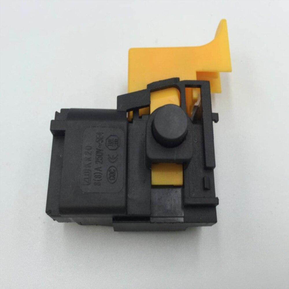 AC 250V 8A funda negra de bloqueo en el interruptor del disparador para taladro compacto Bosch GSB 20-2RE