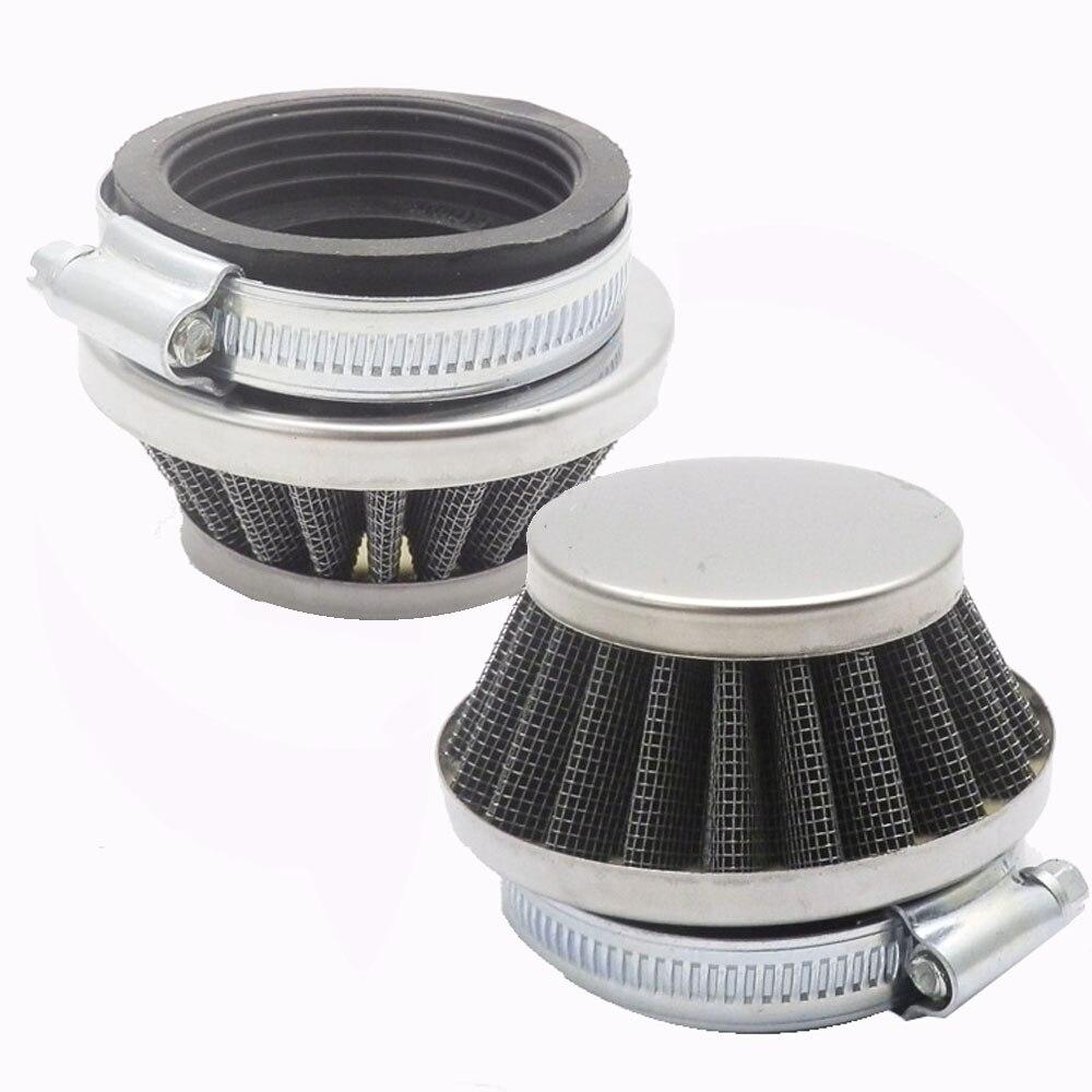 2 uds 50mm filtro de aire para Minimoto Dirt Bike, Mini Moto, Motor de tierra, bicicleta, motocicleta tipo Quad