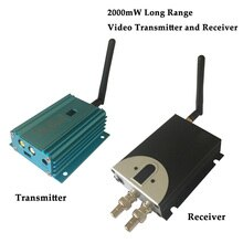 Transmetteur vidéo sans fil longue portée 2.4G avec distance de transmission 4 km, puissance de sortie 2000 mW, transmetteur vidéo CCTV 8 canaux
