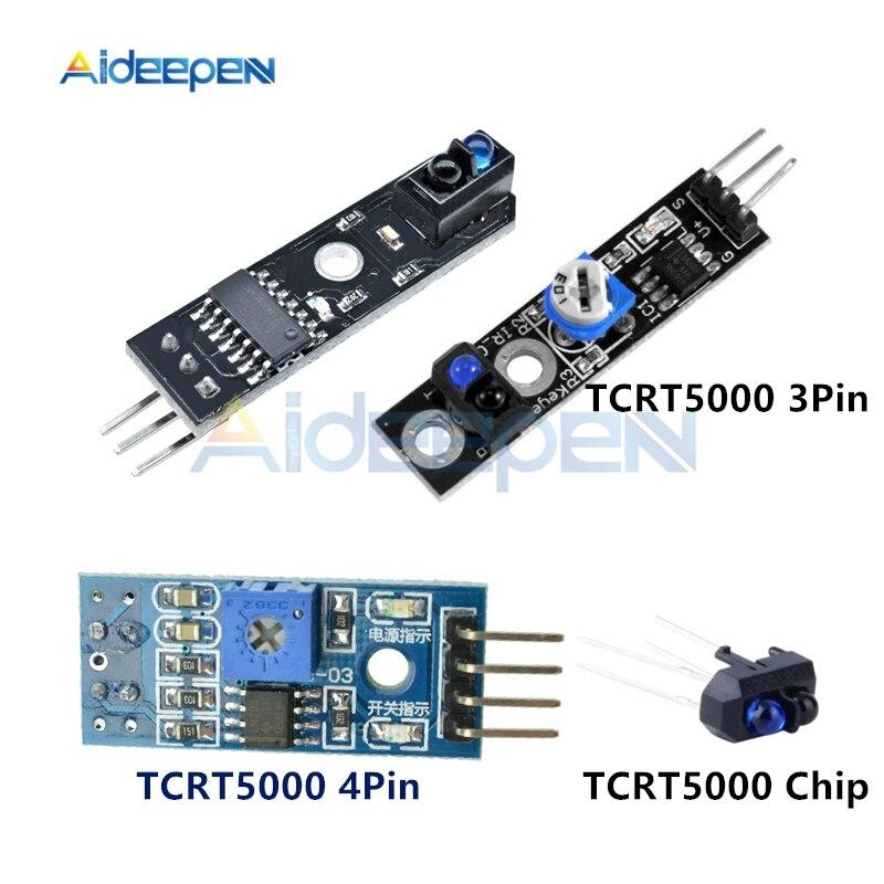 DC 3,3 V 5V TCRT5000 3 pines 4 pines Sensor de reflectancia infrarrojo Módulo de evitación de obstáculos módulo de seguimiento del Sensor para Arduino