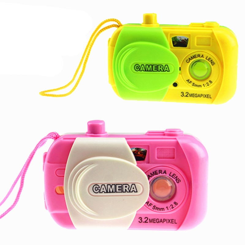 Mini cámara de simulación de caleidoscopio para niños, juguete para bebés, juego de dibujos animados, regalo de cumpleaños, juguetes aleatorios de Color para niños