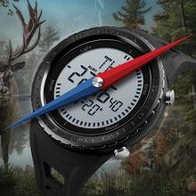 Мужские часы SKMEI, водонепроницаемые цифровые часы 5ATM с компасом, спортивные часы с подсветкой EL, обратного отсчета, 2018