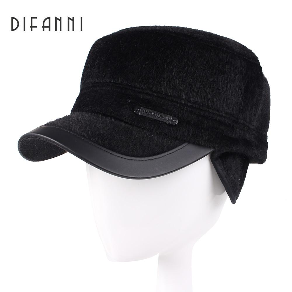 Difanni 2017, зимняя шапка для папы, бейсболка для мужчин, высокое качество, Bone Snapback, шапки для мужчин, теплые шапки с ушками