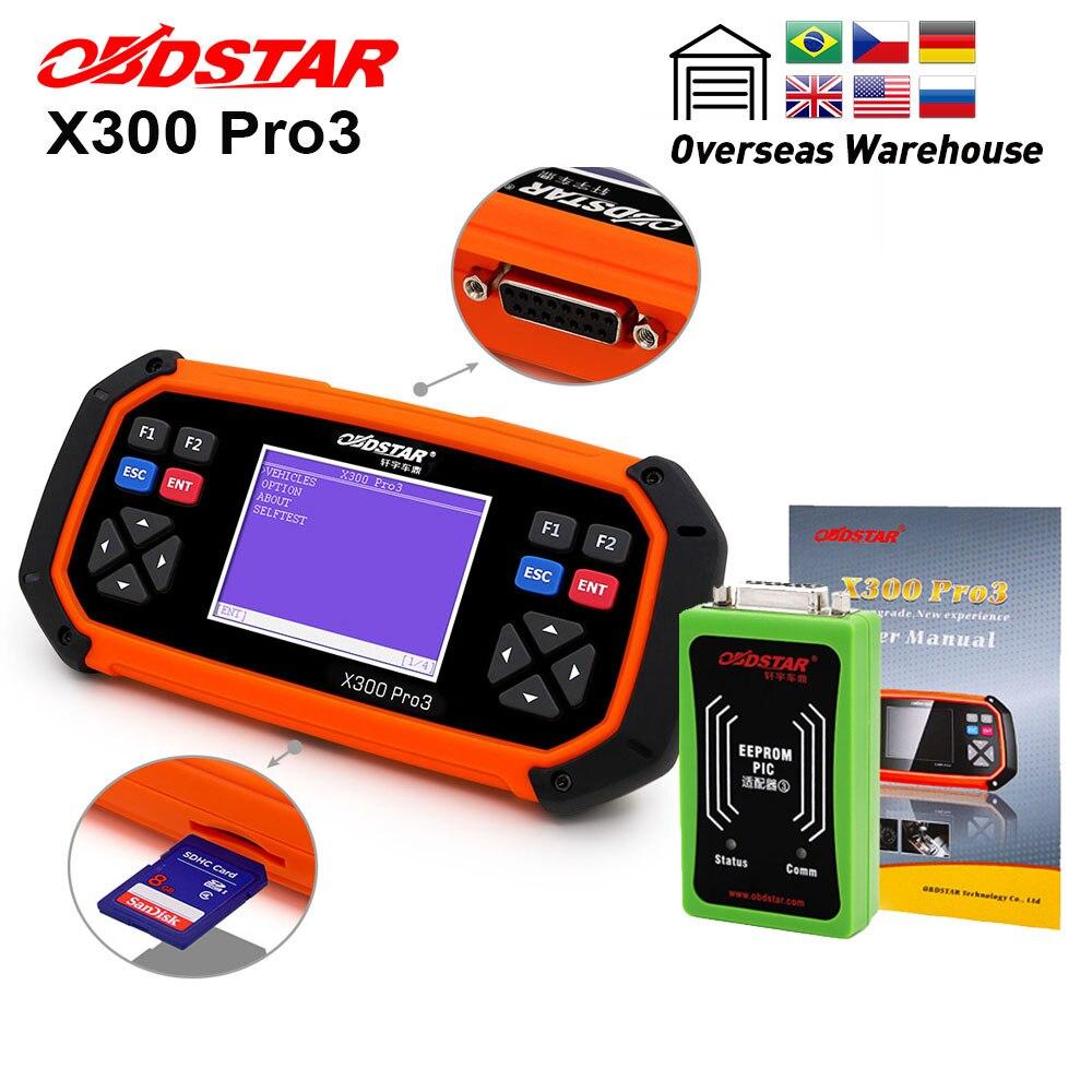 OBDSTAR X300 PRO3, llave maestra OBDII, programador de llaves X-300, odómetro, herramienta de corrección EEPROM/PIC, actualización en línea envío gratuito con DHL