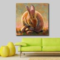 Mode peinture a lhuile lapin Pop Art peinture decor a la maison sur toile moderne mur Art toile impression affiche toile peinture