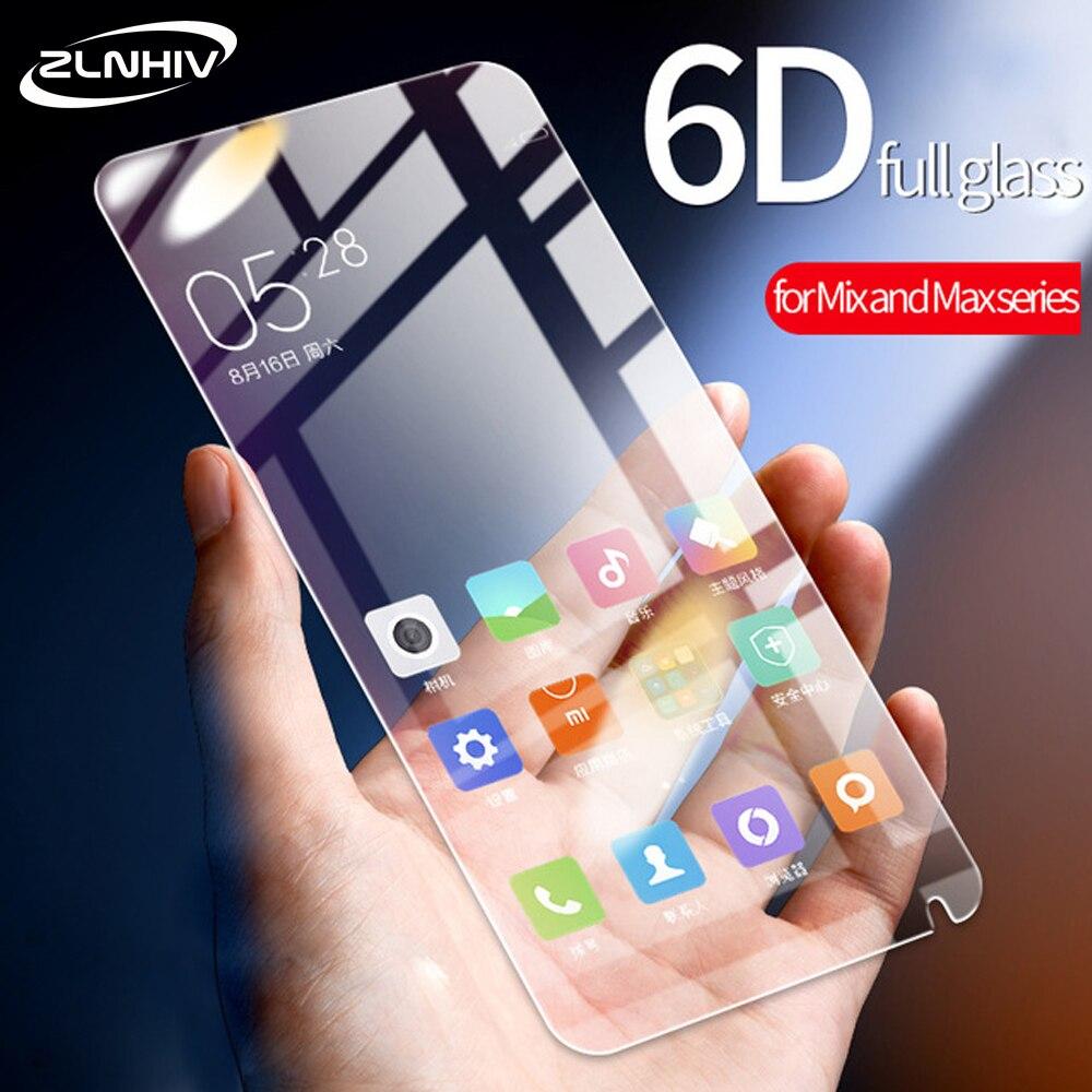 ZLNHIV para xiaomi mix max 2 3 de vidrio protector de pantalla del teléfono película protectora para xiaomi mezclar 2 2s 3 de cristal templado de teléfono inteligente max3