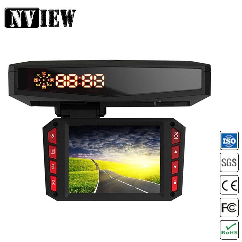 NVIEW 3 в 1 Автомобильный видеорегистратор 140 1080P TFT 2,0