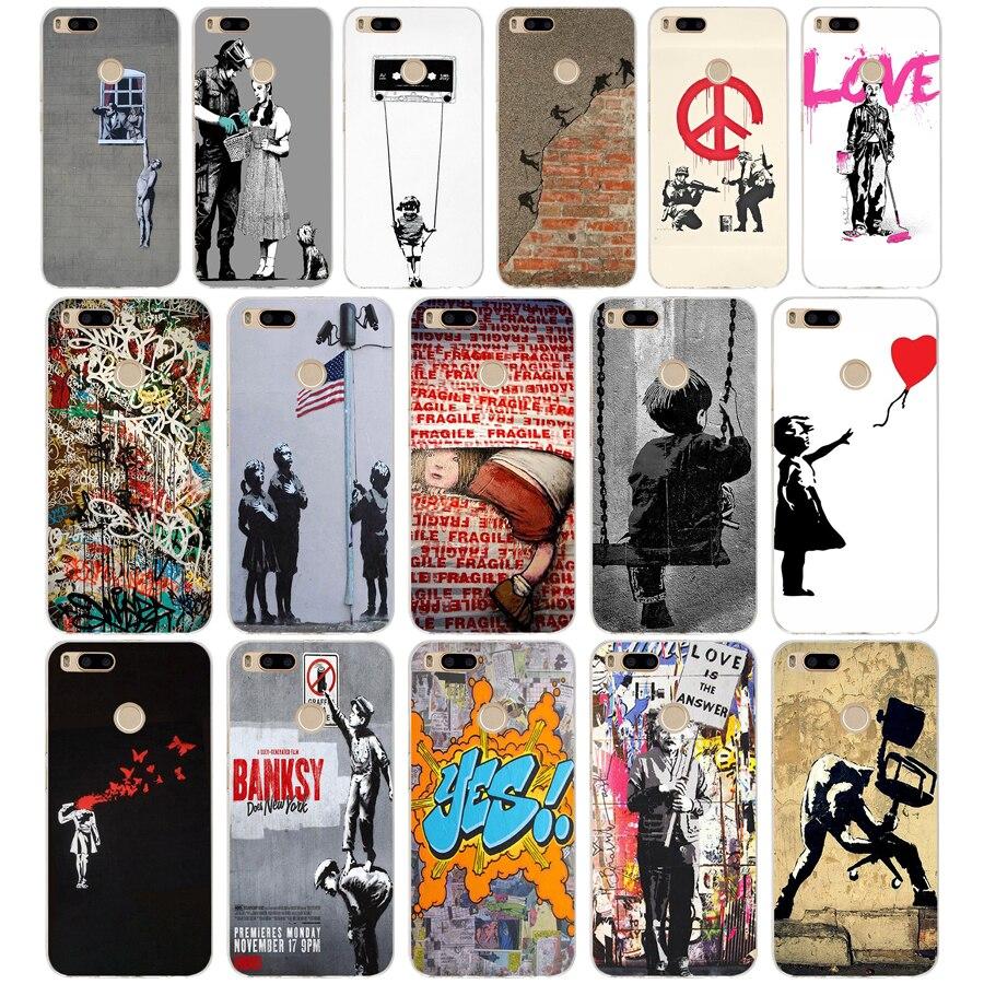 199SD Banksy Albert banksy Palestina suave de silicona Tpu cubierta del teléfono para xiaomi redmi 4A 4X Nota 4 4x mi A1 a2 lite