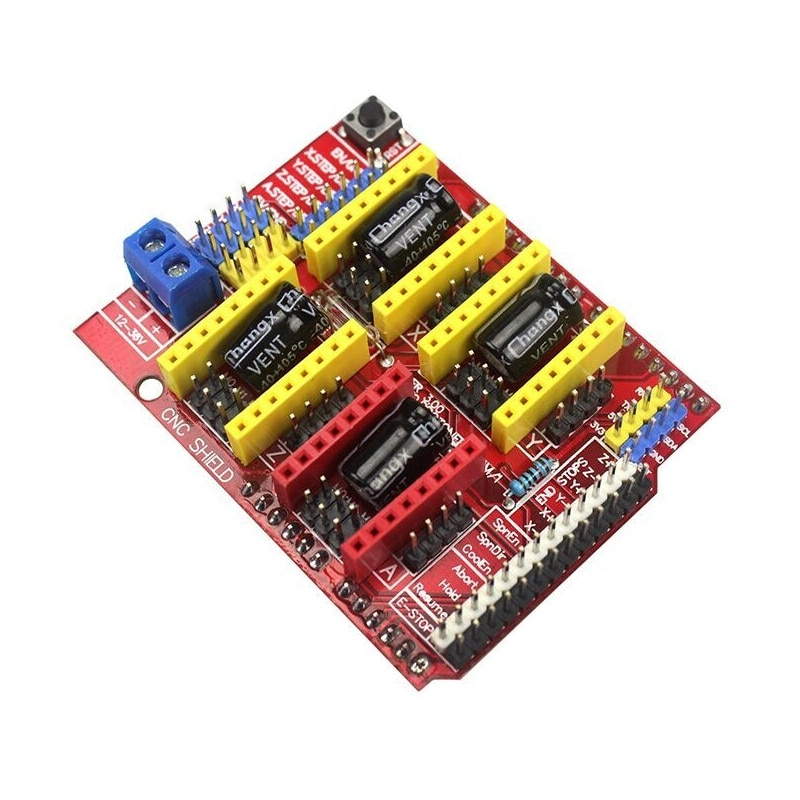 Accesorios para impresora 3D, cnc shield v3, máquina de grabado DIY, expansión CNC A4988, placa controladora, asiento en color