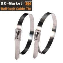 5*400 de 100 piezas de acero inoxidable 304 cable corbata fabricante de corbatas de bloqueo de bola de sello de 360 grados