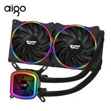 Aigo PC Fall Wasser Kühlung Computer CPU Fan T120/240 Wasser Kühler Integrierte 120mm Lüfter Kühler Verwendet für LGA AM4/2011/1151
