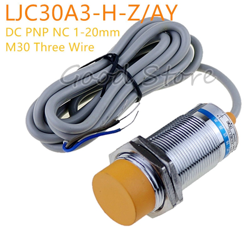 1Pcs LJC30A3-H-Z/AY Three Wire  M30 DC PNP NC 1-25mm distance measuring capacitive proximity switch sensor