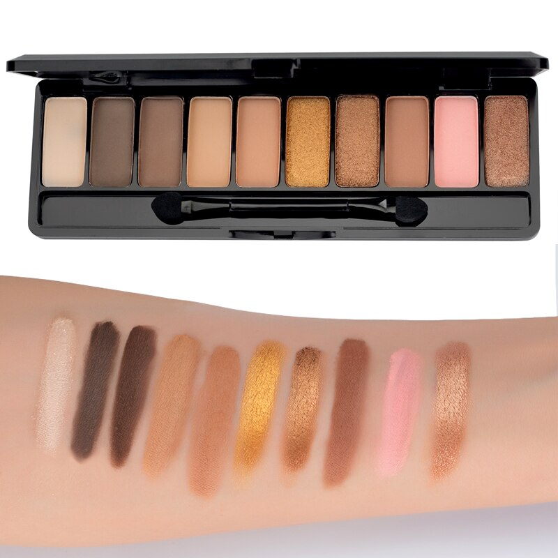 LAMEILA Pro 10 Farben Schimmern Matt Marke Lidschatten Palette Make-Up Lang Anhaltende Wasserdichte Pigmente Glitter Lidschatten Kits