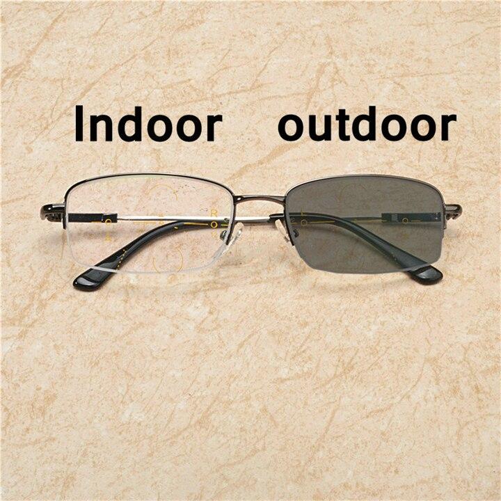 Фотохромные мужские прогрессивные Мультифокальные очки для чтения светильник очки, оправа, очки для чтения с чехлом, диоптрии NX