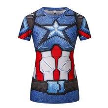Senhoras comics marvel superman batman/maravilha camisas de compressão das mulheres camisa de compressão t feminino fitness collants camisas