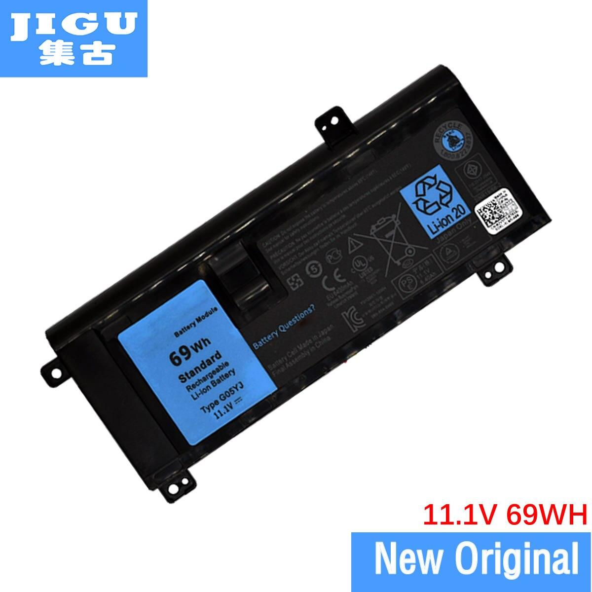 JIGU 08X70T 8X70T G05YJ GO5YJ Y3PN0 الأصلي بطارية كمبيوتر محمول لديل من Alienware 14 14D 14X A14 M14 M14X ALW14D