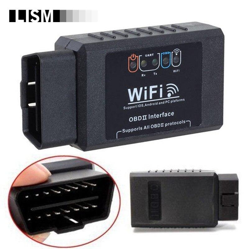 Умный мини WiFi ELM327 для iOS для iPhone для iPad Android Wi-Fi автомобильный OBD2 CAN BUS сканер Интеллектуальный OBD 2 II диагностический инструмент