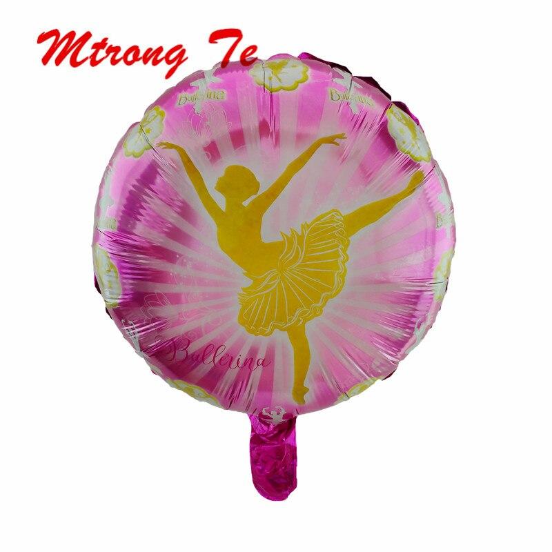 10 Uds. Globos redondos de helio de 18 pulgadas para bailarina Globos de helio suministros de decoración para fiesta de cumpleaños Globos