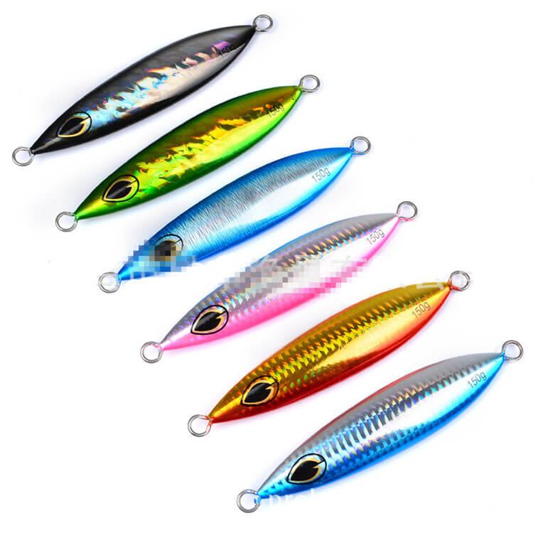 6 pçs micro jigs faca de metal jigs 150g 13cm artificial biônico peixe isca atum snapper kingfish iscas lento crankbaits enfrentar